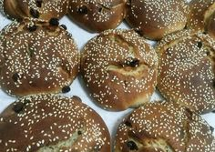 Greek Recipes, Bagel, Doughnut, Hamburger, Sweets, Bread, Health, Desserts, Food