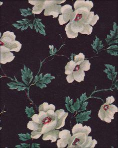 1949 Black Floral Wallpaper by American Vintage Home, via Flickr