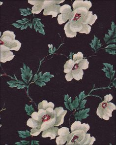 1949 Black Floral Wallpaper by American Vintage Home, via Flickr