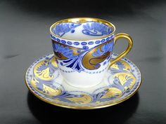 Porcelain cup and saucer set by Royal Doulton, England 1902--1922 (in the Kazumi Murakami Collection)