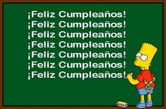 Happy Birthday Cartoon greetings in different languages Birthday Greetings, Birthday Wishes, Birthday Cards, The Twits, Spanish Jokes, Birthday Cartoon, Going To University, Bullying Prevention, Thank You Messages