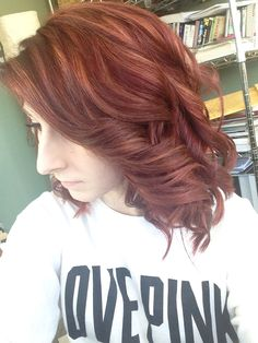 Auburn hair with copper highlights <3