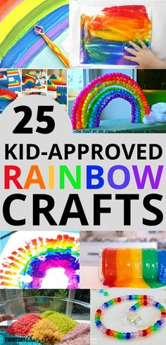 Fun and easy crafts for kids. More than 25 colorful rainbow crafts for preschoolers and toddlers. Looking for some rainbow inspiration? I love colors and there's nothing more beautiful than a rainbow- except for rainbow crafts made by kids! #crafts #DIYcrafts #art #preschool