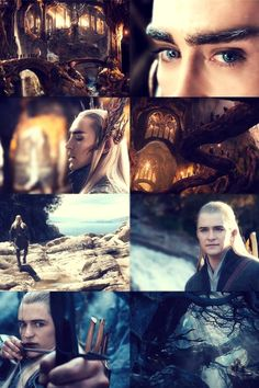 Thranduil and Legolas . Super excited for the Desolation of Smaug premiere in December ! :)