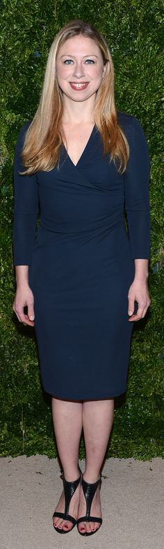 Chelsea Clinton wearing Burberry to the @Vogue Magazine CFDA  Fashion Fund Awards last night in New York