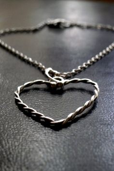 Silver Heart necklace, Silver Chain, Gift for Her, Handmade Necklace, Love Silver Bar Necklace, Necklace Chain, Silver Jewelry, Valentines Gifts For Her, Silver Bars, Sterling Silver Chains, 925 Silver, Handmade Necklaces, Handmade Jewelry