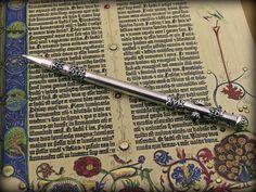 silver pen, magic wand))