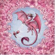 Pink Dragon of Spring Nature Fantasy Art Paper Plate Fantasy Play, Unicorn Fantasy, Fantasy Castle, Pink Dragon, Dragon Art, Fantasy Drawings, Fantasy Artwork, Fantasy Gifts, Nature Artwork