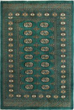 Green Bokhara Persian Rug 4' x 6' (ft) http://www.alrug.com/9608