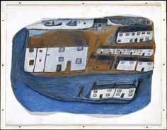 Alfred Wallis, 'St Ives' c.1928 love this folk art image