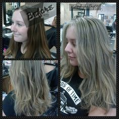 Blonde weave. Before & After. Follow me on Instagram  @HairbyKathy08
