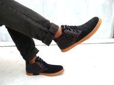 black leather shoes stars handmade Marapulai Sneakers US 10 men Tigo high unisex
