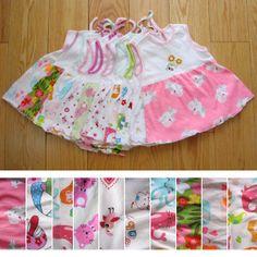 #63 1-2year niña vestido de princesa lindo verano sin mangas de tela para bebés desgaste ropa uno- pieza de vestir 5pcs/lot fr...