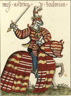 Andrieu (= André] de Toulonjon, chevalier de la Toison d'Or (Gaignières 1845) -- Aquarelle, Fonds Gaignières [BNF Réserve Pd-7-Fol.] -- «Mes. Andrieu de Toulonion»