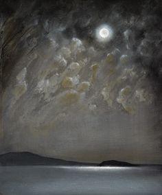 Moonlight on the Bay, Richard Cartwright. - Oil on panel -