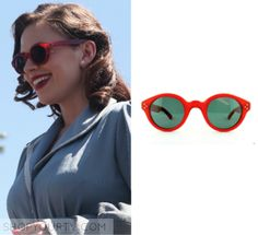 "Peggy Carter (Hayley Atwell) wears these red sunglasses in this episode of Agent Carter. They are the Old Focals® Red ""Architect"" Sunglasses [...]"