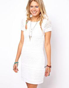ASOS | ASOS Premium Crochet Shift Dress at ASOS