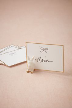 Bunny Place Card Holders are too cute...