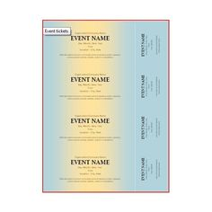 Make a long lasting impression with our 2 parts A6 event ticket ...