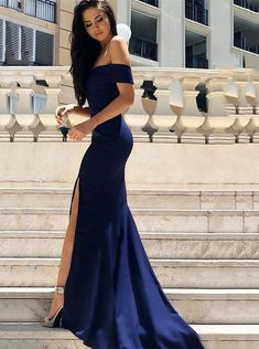Gorgeous Sweetheart Navy Blue Mermaid Long Prom Dress with Slit, 2018 Off Shoulder Navy Blue . - Gorgeous Sweetheart Navy Blue Mermaid Long Prom Dress with Slit, 2018 Off Shoulder Navy Blue Long Prom Dress,Graduation Dress,Prom Dresses Source by - Royal Blue Prom Dresses, Cute Prom Dresses, Blue Evening Dresses, Prom Outfits, Mermaid Evening Dresses, Tight Dresses, Elegant Dresses, Sexy Dresses, Prom Gowns