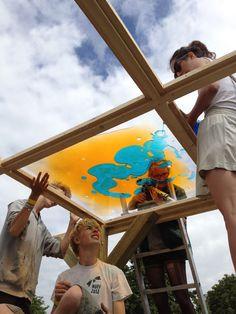 The art pilots building Liquid Lounge.