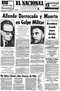 Allende derrocado y muerto en golpe militar. Publicado el 12 de septiembre de 1973.