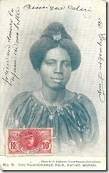 Postcards produced between 1900 and 1910 by the photographer F.W.H Arkhurst in Grand Bassam, Ivory Coast.