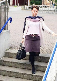 Outfit der Woche! Bluse: Tom Tailor Polo – Rock: Tommy Hilfiger – Strickjacke: Marc O'Polo – Schal: Tommy Hilfiger – Tasche: Liebeskind – Gürtel: Vanzetti #ootw #fashion