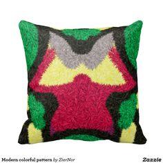 Modern colorful pattern pillows