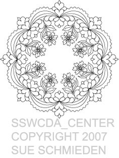 SJSWCDA_16CENTER  Small Center Motif from Daisies for Angie WC by Sue Schmieden