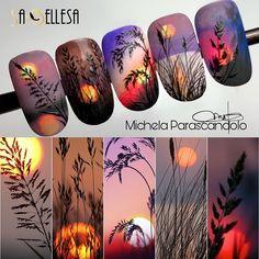 Nail Art Blog, Toe Nail Art, Nail Art Hacks, Nail Art Designs Videos, Gel Nail Designs, Sharpie Designs, Fall Nail Art, Autumn Nails, Nail Manicure