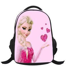 Children School Bags Elsa Anna Bags Cartoon Backpack For Kids Girls Boys  Mochila Infantil First Grade Bags