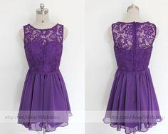 Mint Short Bridesmaid Dress/Lace Bridesmaid by Wishdress on Etsy