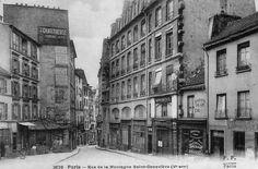 La rue de la Montagne-Sainte-Geneviève, vers 1900.