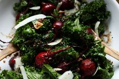 Warm Kale & Quinoa Salad With Roasted Balsamic Beets
