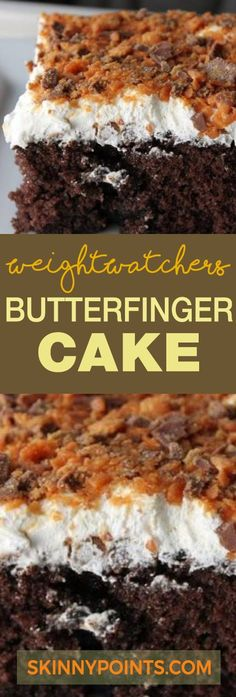 Butterfinger Cake With Only 6 Weight watchers Smart Points