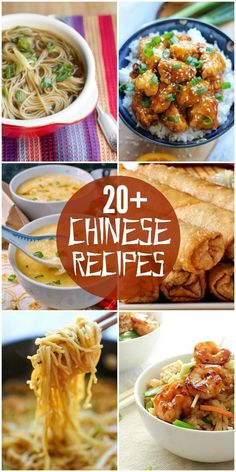 A roundup of 20+ DELICIOUS Chinese food recipes, just in time for the Chinese New Year. Chicken, soup, egg rolls, and so many more delicious recipes! #thaifoodrecipes #chinesefoodrecipes