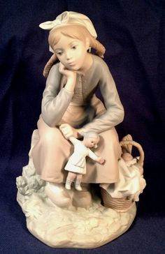 LLADRO RETIRED RARE Vintage Girl w/Doll #1211 RARE MATTE MINT NO RESERVE BID NOW | eBay