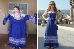 great way to reuse those old ugly clothes you don't know what to do with - a little imagination and you have a new dress!!!