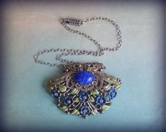 Hey, I found this really awesome Etsy listing at https://www.etsy.com/listing/219182950/antique-enameled-pendant-necklace