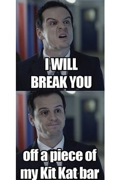 Moriarty really just wants to share some candy... Sherlock fandom fun
