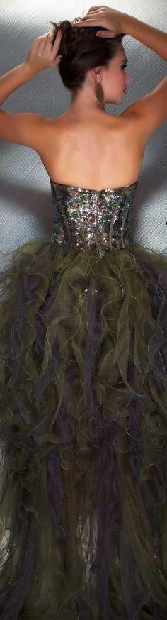 Mac Duggal couture camo #strapless  #formal  #dress VOLTAR MAC Duggal PROM ESTILO 50140M by Divonsir Borges