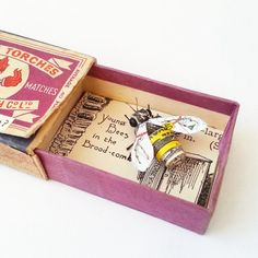 Tiny Bee in a Matchbox paper sculpture by Kasasagi on Etsy                                                                                                                                                      More