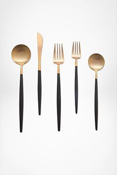 DVF Petite gold and black Flatware
