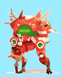 I designed a Christmas skin for D.VA! I'M SO EXCITED for the Overwatch winter event! /(=✪ x ✪=)\ Patreon + Shop + Twitter + Twitch