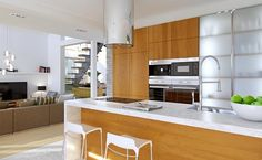 Z Charakterem 1 - wizualizacja 6 - Projekty nowoczesnych domów na wąską działkę z antresolą i garażem dwustanowiskowym