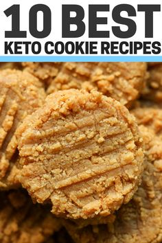 keto dessert The BEST Keto Peanut Butter Cookie Recipe! These are low carb, no sugar, flourless peanut butter cookies for the keto diet. They're made with just almond flour, Swerve, and e Keto Cookies, Cookies Et Biscuits, Keto Cookie Dough, Cookies Soft, Keto Biscuits, Kinds Of Cookies, Peanut Butter Cookies 3 Ingredient Recipe, Flourless Peanut Butter Cookies, Cookie Butter