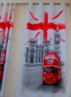 England English Flag Union Jack British by MexFabricSupplies, $30.00. Kyndall's room, curtains