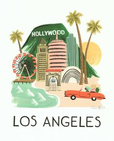 Rifle Paper Co. Los Angeles print {too cute}