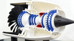 Japanese Company 3D Prints a Large Working Jet Engine Replica http://3dprint.com/17716/3d-printed-jet-engine/